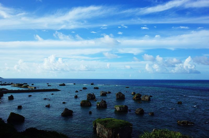 Sky Sea Horizon Over Water Cloud - Sky Water Scenics Tranquil Scene Tranquility Nature Blue Outdoors Day Beauty In Nature No People Japan Miyakojima MiyakoIsland Okinawa