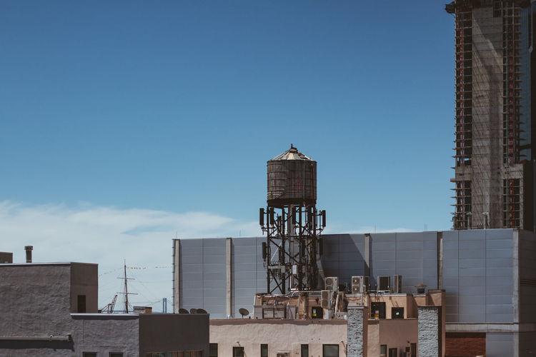 Industry against blue sky