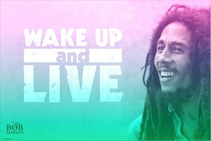 LiveLaughLOVE  Goodmorning Bob Marley Enjoy Life