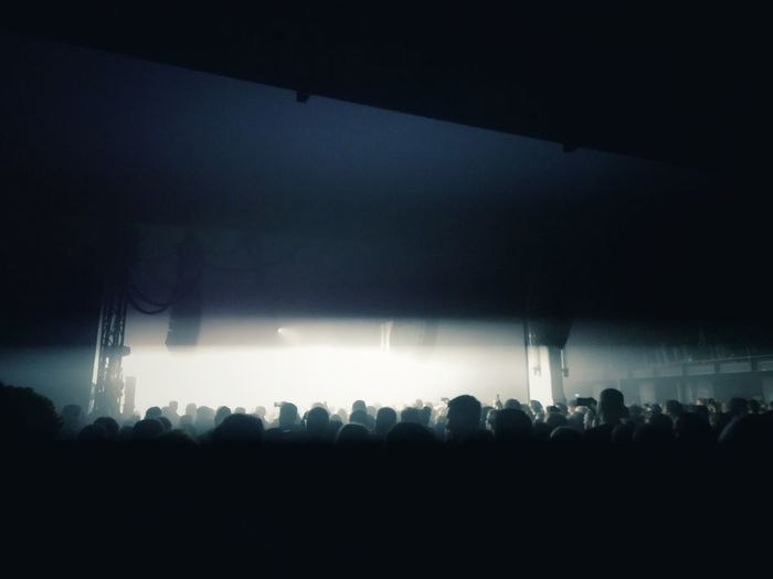 In the end it's all about sharing great moments. Aphex Twin Funkhaus Berlin Nalepastrasse Electronic Music Techno Popular Music Concert Fan - Enthusiast Crowd Audience Illuminated Nightlife Musician Performance Stage Light Concert Music Concert