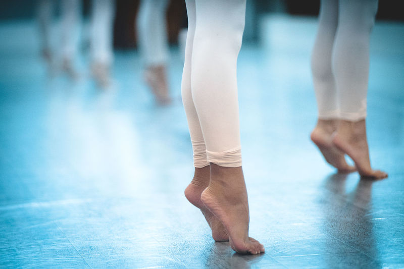 Balance Ballet Ballet Dancer Ballet Studio Close-up Day Exercising Focus On Foreground Grace Human Body Part Human Leg Indoors  Leisure Activity Lifestyles Low Section One Person Performance Practicing Real People Skill  Standing Fresh On Market 2017