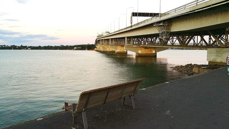 Auckland Harbour Bridge Auckland Harbour Bridge Auckland Bridge - Man Made Structure Built Structure Architecture Water River Connection Transportation Sky Outdoors No People Day Nautical Vessel
