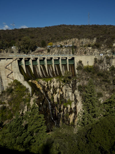 Dique la Viña Architecture Built Structure Concrete Dam Day Fuel And Power Generation Hydroelectric Power Landscape Mountain Nature No People Outdoors Renewable Energy Sky Water