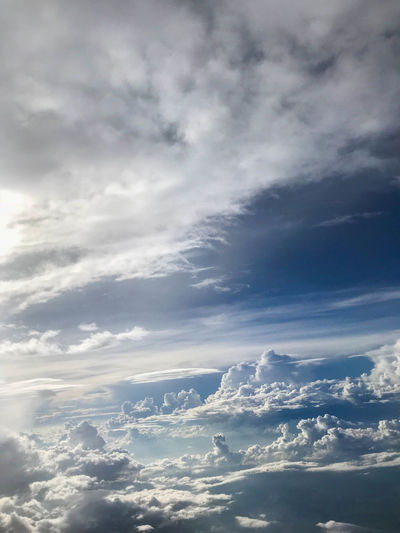 Beautiful cloudscape 🌤 Cloud - Sky Sky Beauty In Nature Scenics - Nature Tranquility Tranquil Scene Day Nature Backgrounds Cloudscape Fluffy Blue Clouds And Sky