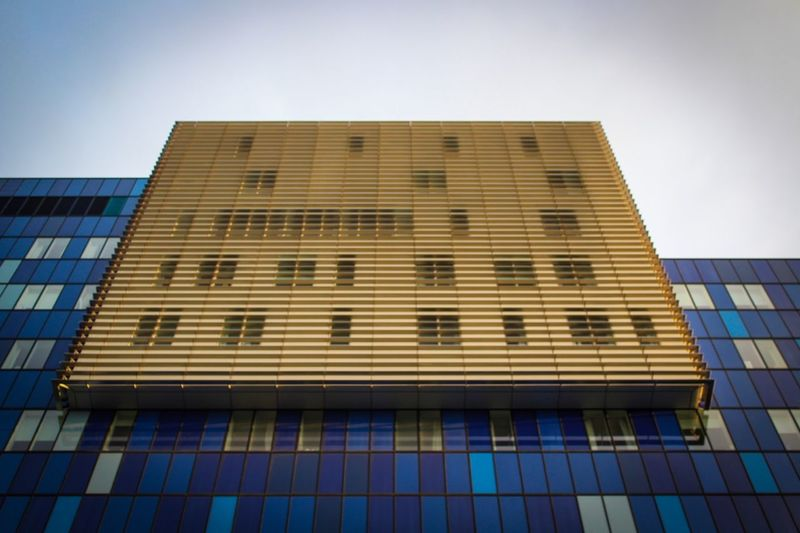 Royal London Hospital Low Angle View Built Structure Architecture Building Exterior Window Day Outdoors Modern Sky