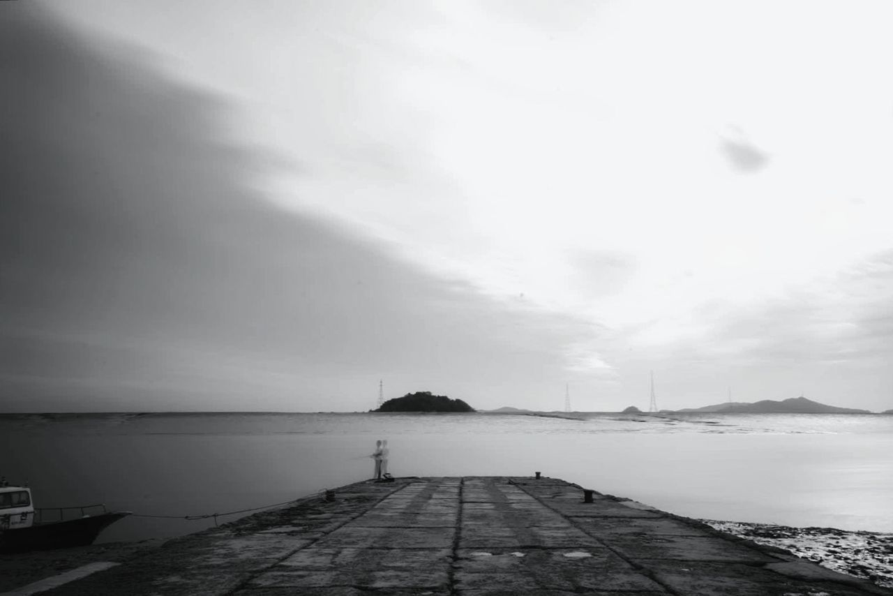 sea, water, outdoors, sky, scenics, nature, tranquility, day, cloud - sky, beauty in nature, horizon over water, no people