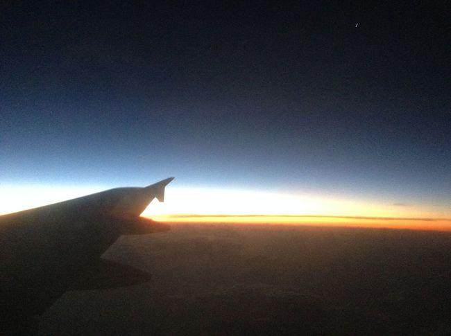 Sunrise Plane Traveling Skylovers Enjoying Life