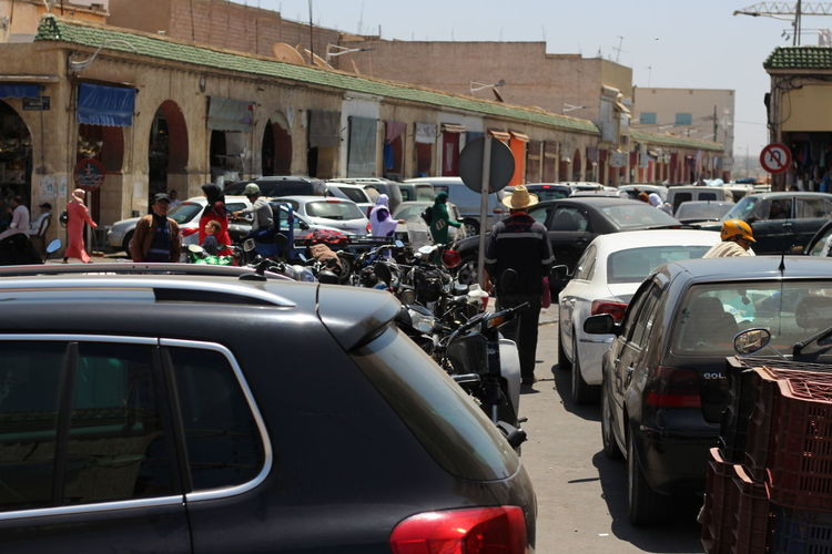 Street in Agadir Mode Of Transportation Transportation Motor Vehicle Land Vehicle City Car Architecture Built Structure Real People Large Group Of People Street Group Of People Crowd Traffic Building Exterior Road Day City Life Outdoors Travel Agadir Morocco Africa