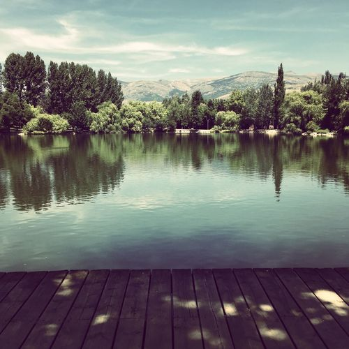 Beautiful lake at Puigcerdà, Spain Lovely Weather Peace And Quiet