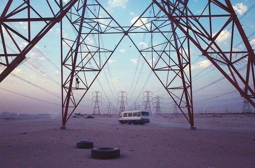 Kuwait Yoonjeongvin Transportation No People Sky Electricity  Day Electricity Pylon Colour Your Horizn