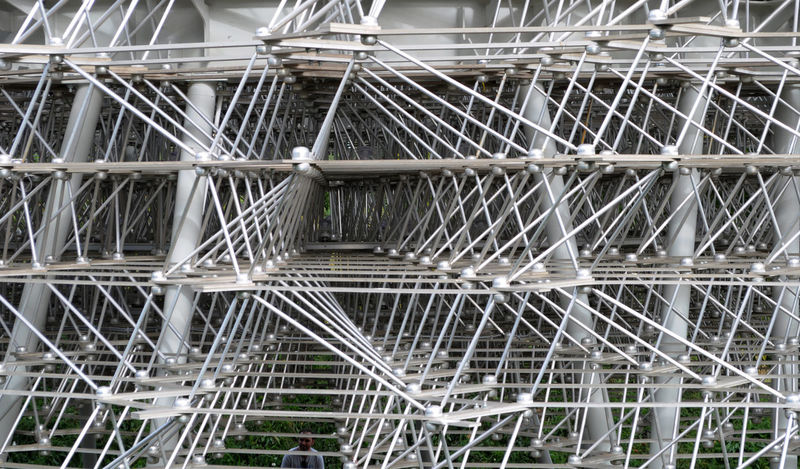 Backgrounds Complexity Crisscross Day Geometric Shape Kew Gardens London Man Made Object Metal Outdoors Repetition The Hive Beautifully Organized The Graphic City