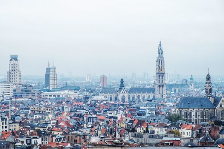 City view of Antwerp Antwerpen Belgie FUJIFILM X-T1 Belgium Skyline City Life EyeEm Gallery Getty Images Europe TripAdvisor Travel Photography Travel Explore City Cityscape Urban Skyline Skyscraper Aerial View Sky Architecture Building Exterior