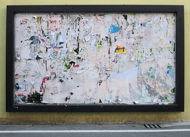 Close-up of Scratched Paper Posters on Street Wall Background 2016 Backgrounds Black Creativity Day Dirty Frame Full Frame Graffiti High Angle View Ideas Multi Colored No People Paper Poster Scratched Street Wall Streetart Streetphotography Textured