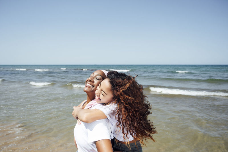 Young couple on beach