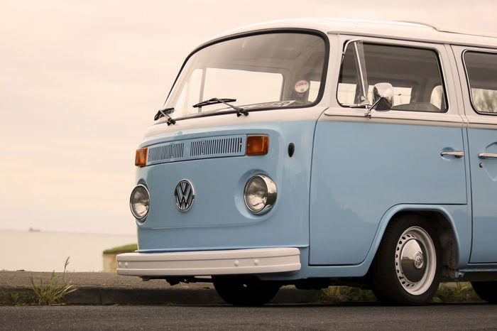 Volkswagen Retro Car Oldcars Seafront Retro Car VW Automotive Photography Beach Still Vwcamper