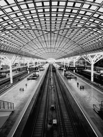 Railroad Track Rail Transportation Public Transportation Subway Train Architecture