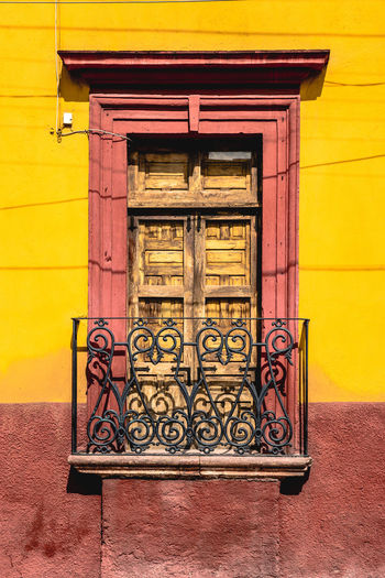 Paint The Town Yellow Architecture Building Exterior Built Structure Close-up Day Door No People Outdoors Yellow