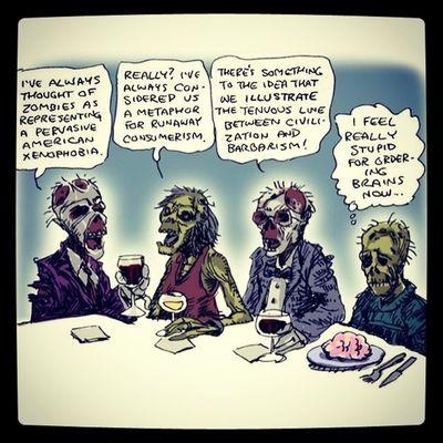 Zombies  Reflection Xenophobia Barbarianism Consumerism Civilization Stupid Brains