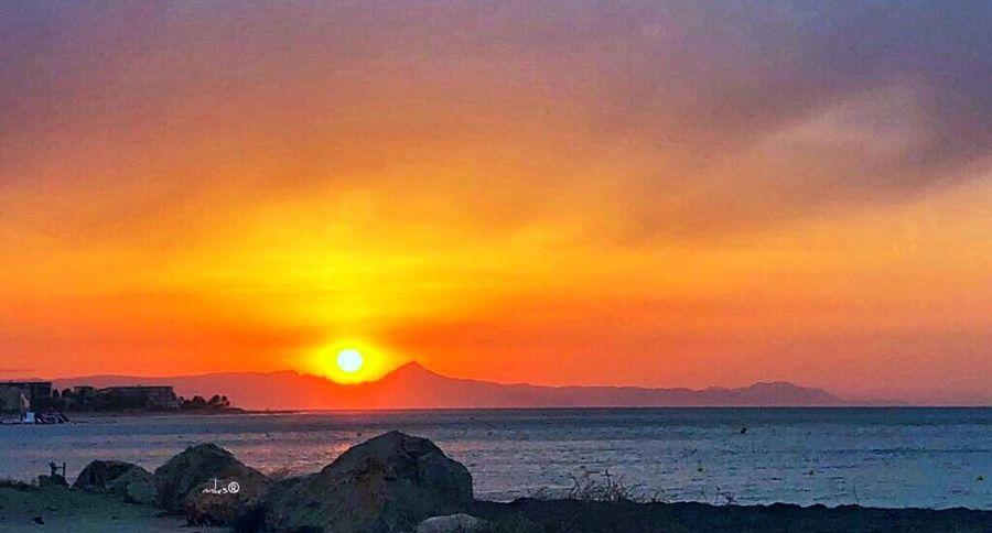 Sunset Spirit Sun Sunset Beach Bestoftheday Photography Beauty In Nature Landscape Photooftheday Sunset Sky Water Beauty In Nature Sea Scenics - Nature Orange Color Tranquility Cloud - Sky