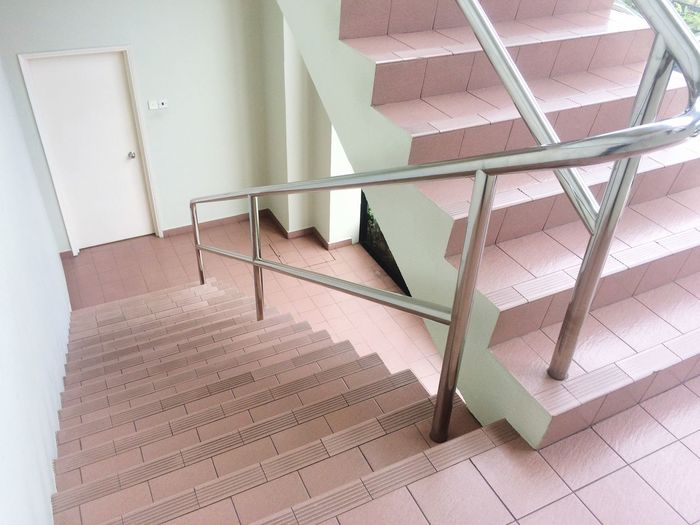 Office Stairs Steps And Staircases Staircase Railing Architecture High Angle View Indoors  Steps No People Built Structure Stairs Close-up Day