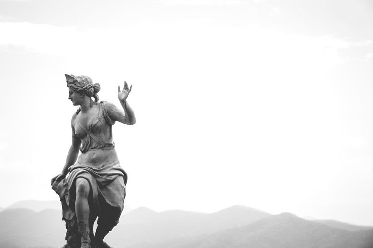 Art Art And Craft Carving - Craft Product Creativity Day Human Representation Low Angle View Monochrome Monument Mountain My Favorite Photo Nature No People Outdoors Sculpture Sky Statue Tourism Tranquil Scene Tranquility Travel Destinations My Favorite Photo
