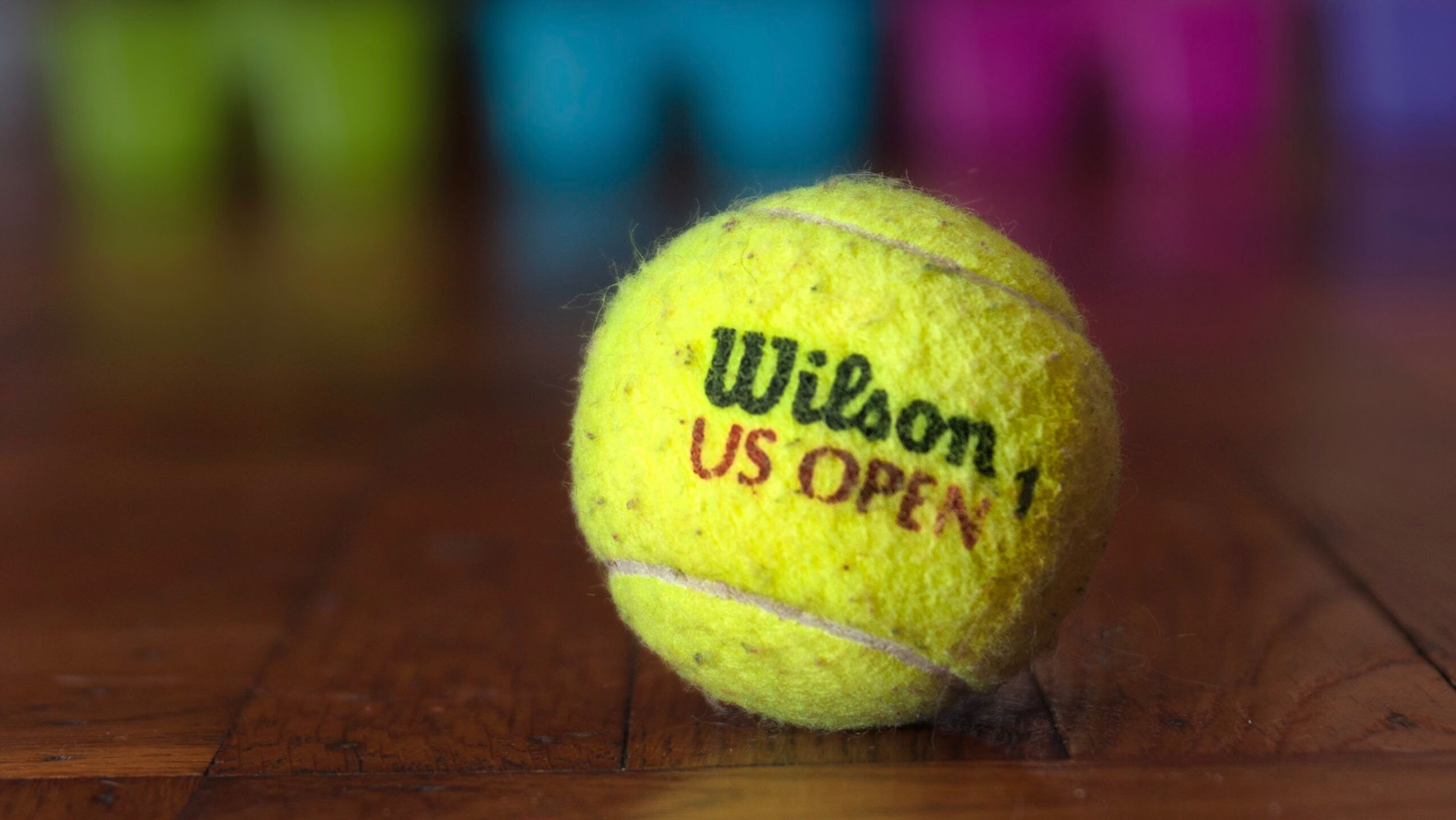 tennis, sport, tennis ball, ball, indoors, no people, focus on foreground, close-up, yellow, court, day