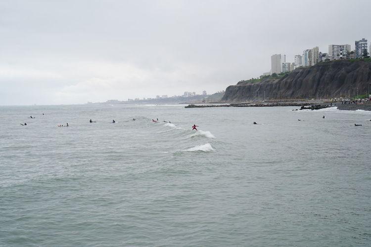 Atlantic Ocean Lima Lima-Perú Muelle Lima Ocean View Surf Ocean Pier Of Lima Surfing Lima Surfingphotography