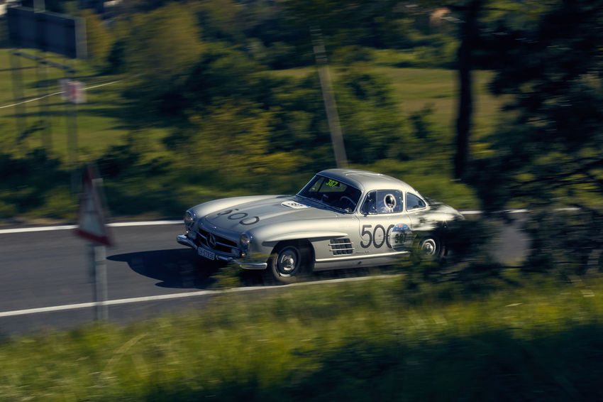 Country Road Automotive Photography Mille Miglia Road Race Gullwing Mille Miglia 2016