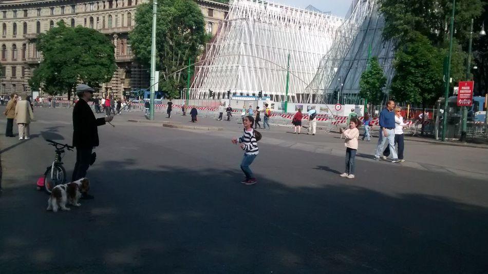 Parco Sempione Rope Skipping kids playing Fun
