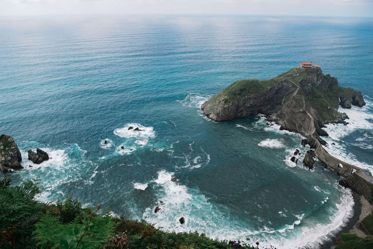 ocean Beach Beauty In Nature Blue Day High Angle View Horizon Horizon Over Water Idyllic Land Motion Nature No People Outdoors Rock Rock - Object Scenics - Nature Sea Solid Stack Rock Tranquil Scene Tranquility Turquoise Colored Water