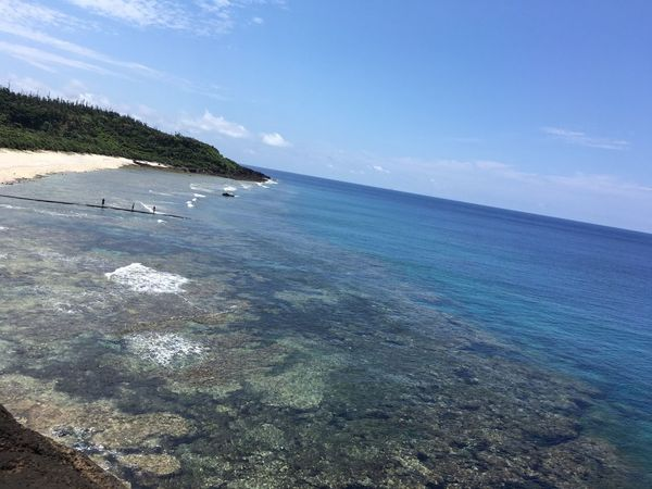 Pure Nature Taitung,taiwan Taiwan Coastline Beach Islandlife Pacific Ocean Bluesky Greenisland Togetherness New Life Love People Family Peace And Quiet Summertime Bluewater Clean Sand