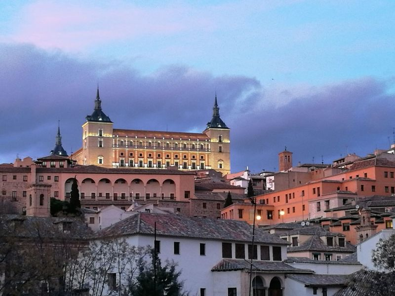Toledo Alcazar Outdoors Architecture Building Exterior Architecture Architectureporn Architecturephotography Toledo-Spain City Alcazar Cityscape City Cityscape Architecture Travel Travel Destinations Sky Built Structure Government Tower Old-fashioned Bridge - Man Made Structure Outdoors No People Night Clock Face