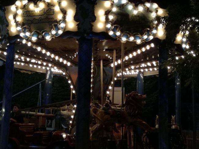 Night. Lights. Caroussel. Manège. Fair