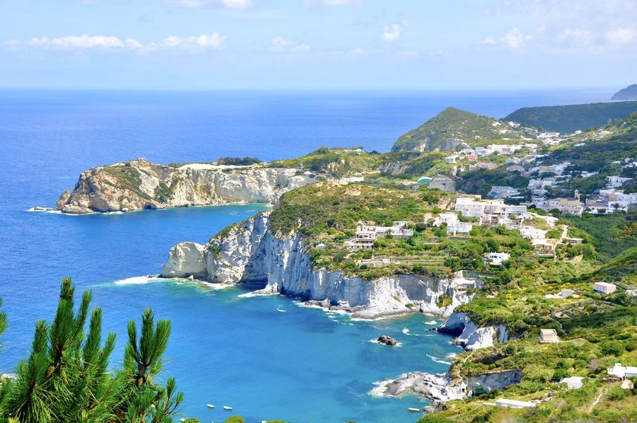 Beach Beauty In Nature Blue Cliff Coastline Horizon Over Water Idyllic Island Isola Di Ponza  Italy Landscape No People Outdoors Ponza Scenics Sea Travel Travel Destinations Water Yacht