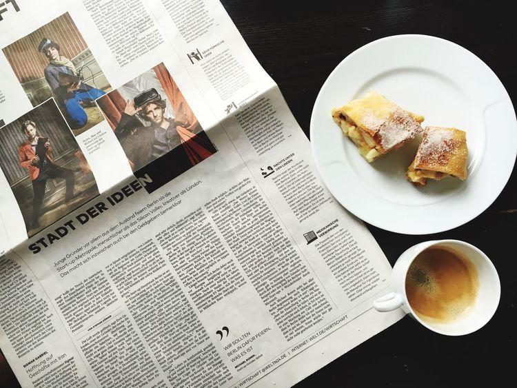 Reading a short interview with my fiancé is a perfect Saturday morning My Favorite Breakfast Moment Breakfast Newspapers Der Welt Zeitungsartikel My Favorite Photo EyeEm X My Muesli - Breakfast Moment