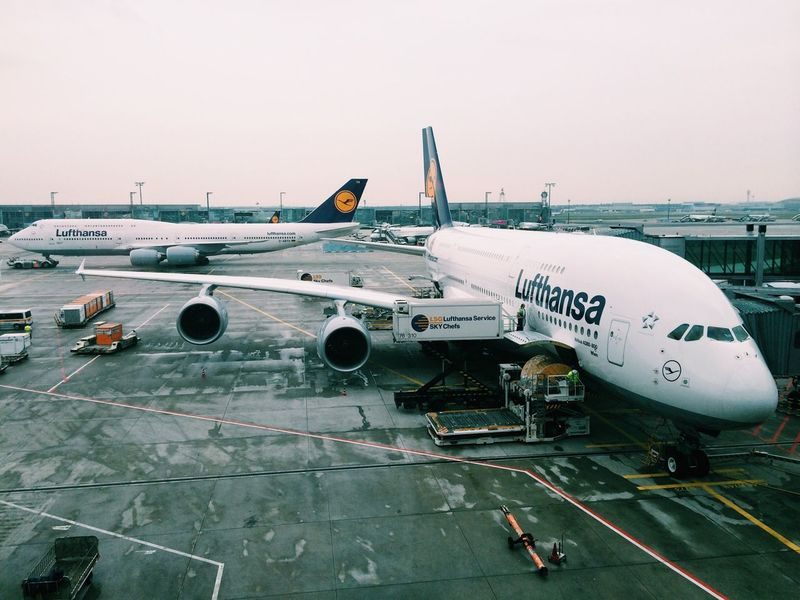 Leaving Frankfurt Airbus A380 A380