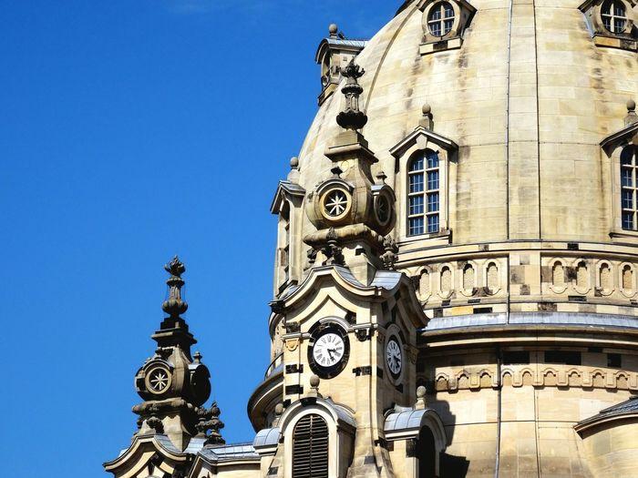 Dresden frauenkirche against blue sky