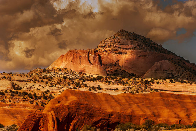Gallup New Mexico, USA Pyramid Rock Cloud - Sky Formation Landscape Mountain Outdoors Rock Rock Formation Scenics - Nature