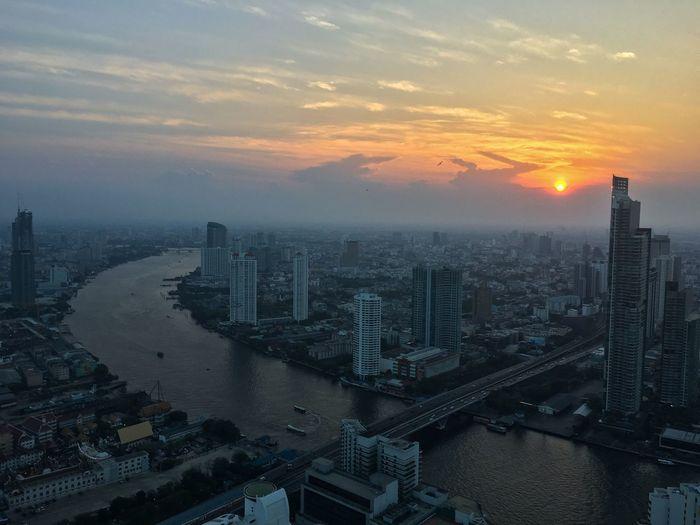 Bangkok Skycraper Amazing View Lebuatower Sunset View