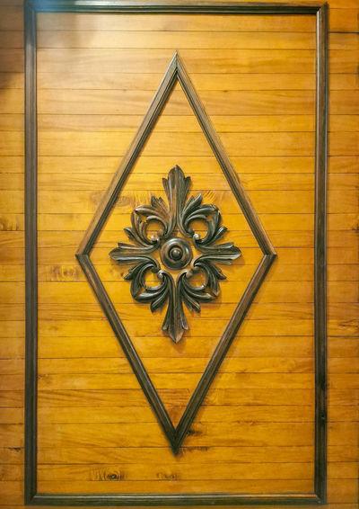 Close-up of wooden door