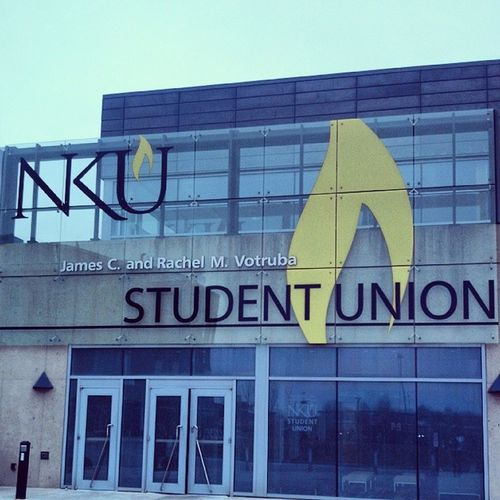 Visiting NKU today for a grant award ceremony. Win