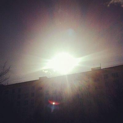 Солнышкооооо *-* тепло :333 весна жара солнце отрадное