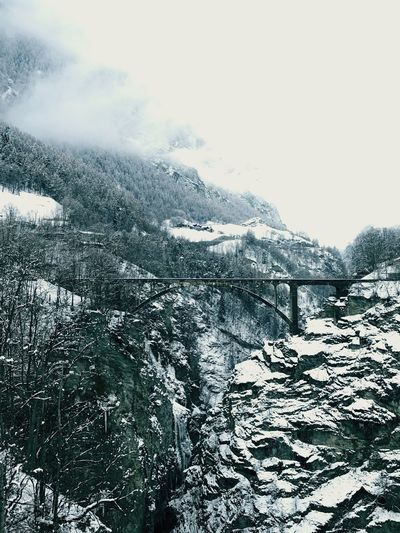 Nature Snow Tranquility Winter No People Beauty In Nature Cold Temperature Tranquil Scene Outdoors Landscape Bridge Switzerland Wintertime Saastal Scenics