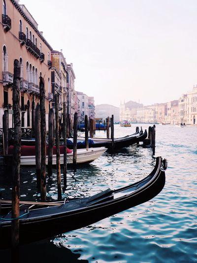 Gondola - Traditional Boat Gondola Venice Venezia Venice, Italy Italia Italy Celestalis Celestalisblue