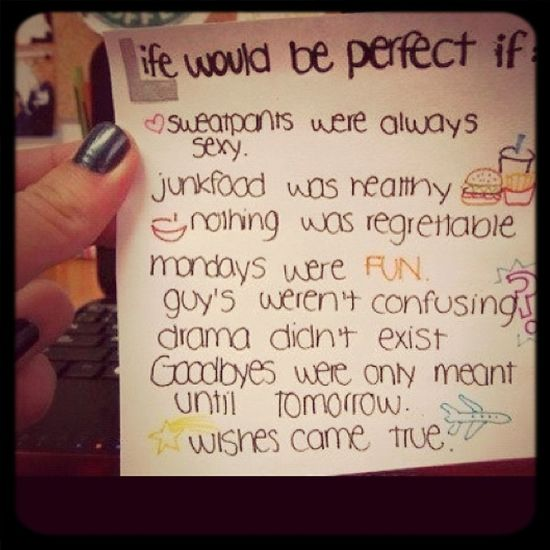 Life Would Be Perfect If...