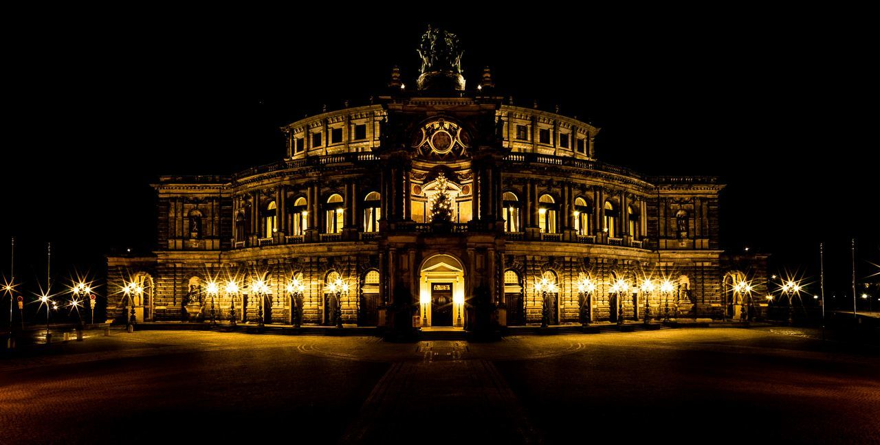 night, illuminated, architecture, built structure, building exterior, travel destinations, outdoors, arts culture and entertainment, statue, sculpture, no people, city, sky