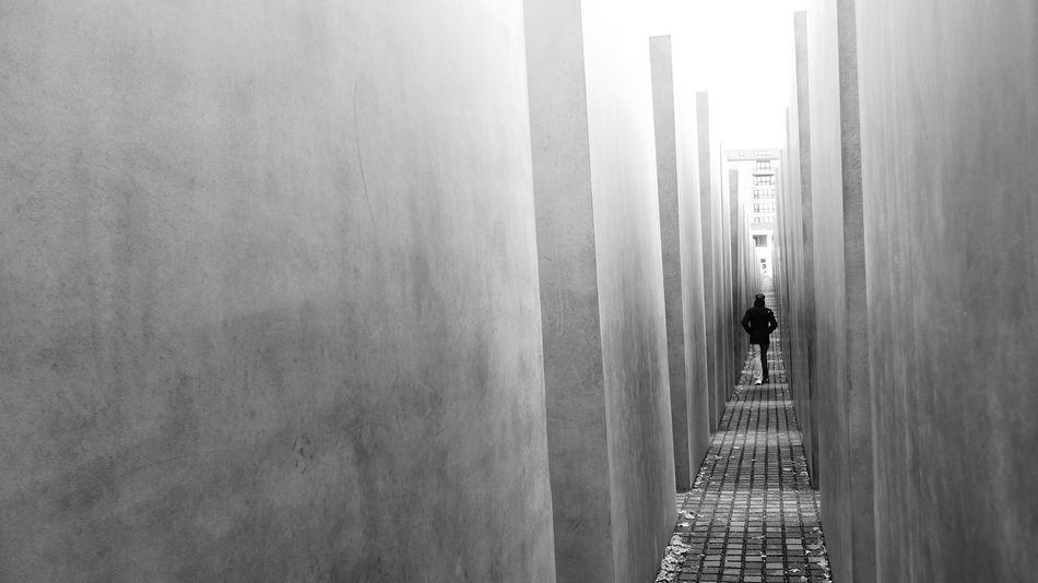 Berlin Black And White Germany Memorial Of Holocaust One Person Panasonic  Panasonic Lx3 Silence