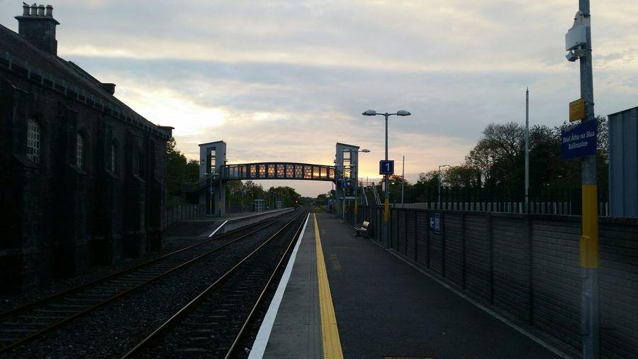 Waiting for a Train Railways_of_our_world Irish Rail Commuting Public Transportation Ballinasloe