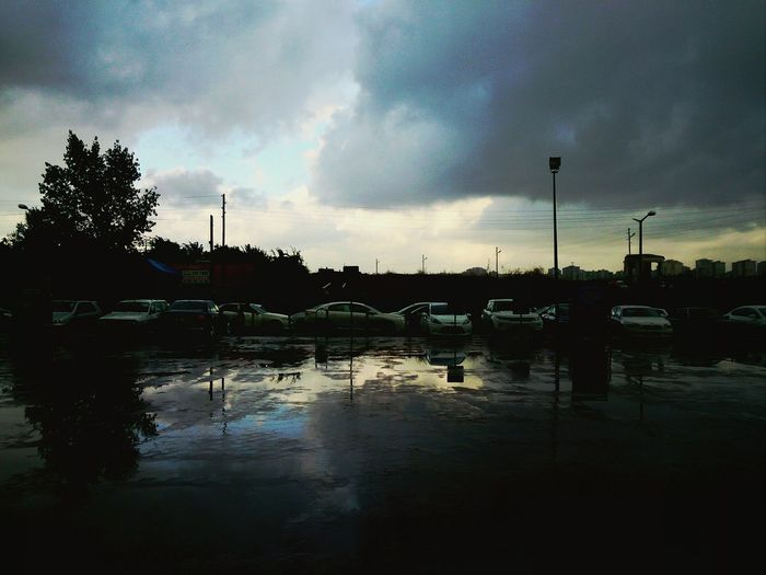 Parking Lot After Rain Mobilephotography