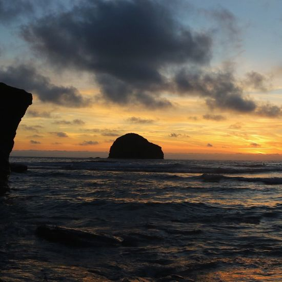 Trebarwith Strand, Cornwall, UK at Sunset - First Eyeem Photo